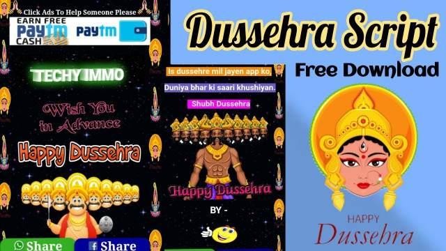 Happy Dussehra Viral Wishing Script